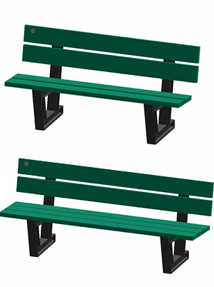 Park Benches made of 100% recycled plastic materials