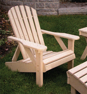 Adirondack Chair made from 100% recycled plastic materials