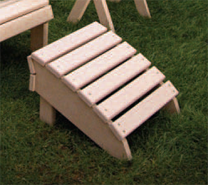 Adirondack Foot Rest made of 100% recycled materials
