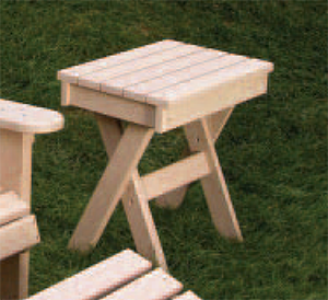 Adirondack Table made of 100% recycled materials