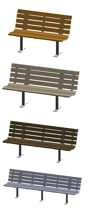 Contour 100% recycled benches