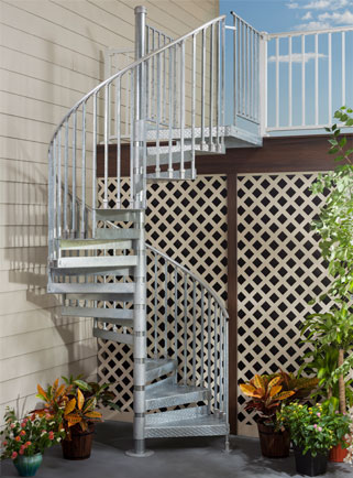 Trex Galvanized Steel Staircase