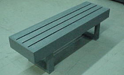 Plastic Composite Lumber Locker Room Bench