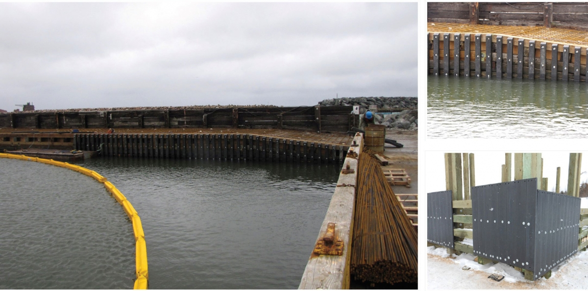 Durable Sea Walls made of plastic Lumber