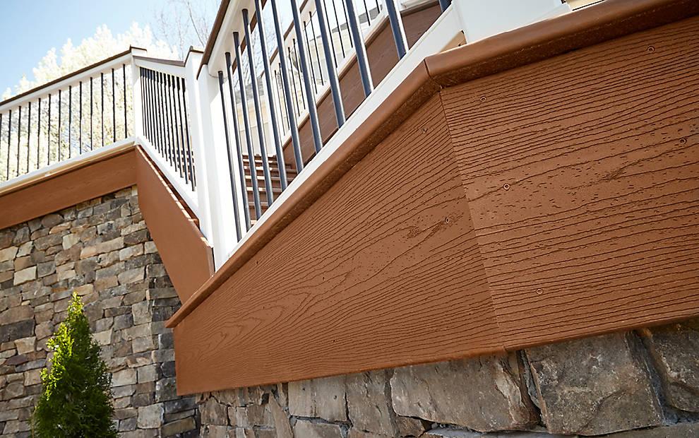 Trex Fascia Boards Pastic Lumber - Composite Lumber
