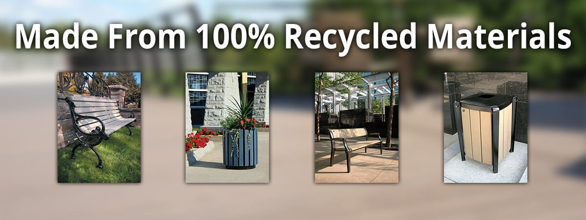Plastic Lumber is made from 100% Recycled Materials